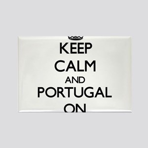 Keep calm and Portugal ON Magnets